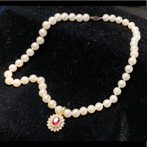Vintage 18in costume pearls